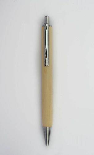 Wooden Engraved Silver Jotter Ball Pen